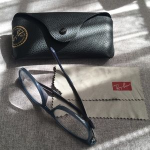 RAY BAN Blue Eyeglasses frame with box & cloth